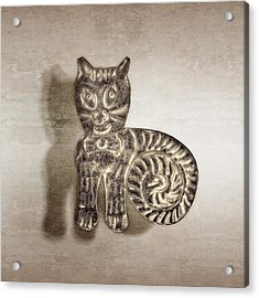 Tin Cat Acrylic Print