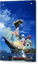 Tin Hua Temple Closeup Of Colorful Statue Acrylic Print by Gloria and Richard Maschmeyer - Printscapes
