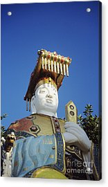 Tin Hua Temple Colorful Statue Acrylic Print by Gloria and Richard Maschmeyer - Printscapes