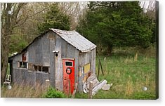 Tin Phillips 66 Shed Acrylic Print by Grant Groberg