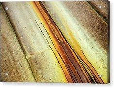 Tin Roof Abstract Acrylic Print