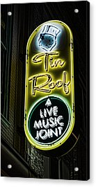 Tin Roof - Gritty Acrylic Print by Stephen Stookey