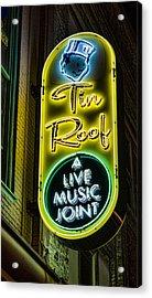 Tin Roof Acrylic Print by Stephen Stookey