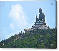 Tin Tan Buddha In Hong Kong Acrylic Print