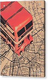 Tin Travel Tour Acrylic Print