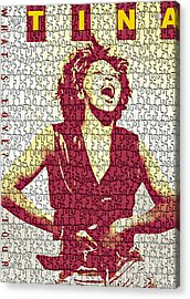 Tina Turner - Digital Graphic Poster Acrylic Print