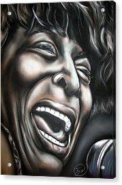 Tina Turner Acrylic Print by Zach Zwagil