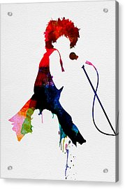 Tina Watercolor Acrylic Print by Naxart Studio