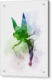 Tinker Bell Acrylic Print by Rebecca Jenkins
