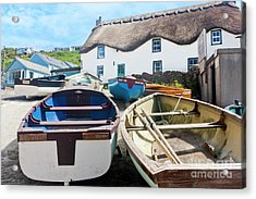 Tinker Taylor Cottage Sennen Cove Cornwall Acrylic Print by Terri Waters