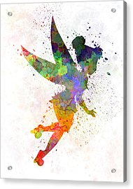 Tinkerbell In Watercolor Acrylic Print