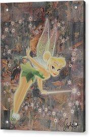 Tinkerbell Acrylic Print by Stapler-Kozek