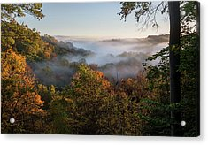Acrylic Print featuring the photograph Tinkers Creek Gorge Overlook by Dale Kincaid