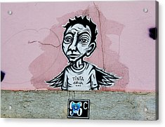 Acrylic Print featuring the photograph Tinta, Lisboa Street Art by Lorraine Devon Wilke