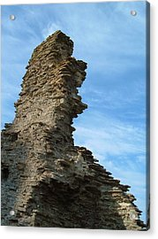 Tintagel Castle Wall Acrylic Print