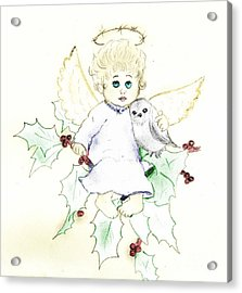 Tinted Little Angel Acrylic Print