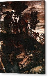 Tintoretto The Miracle Of The Loaves And Fishes Acrylic Print by Jacopo Robusti Tintoretto