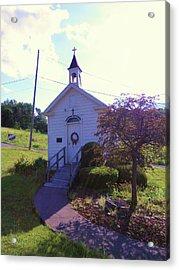 Tiny Church In The Valley Acrylic Print