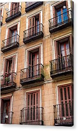 Acrylic Print featuring the photograph Tiny Iron Balconies by T Brian Jones