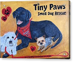 Tiny Paws Small Dog Rescue Acrylic Print by Sharon Schultz