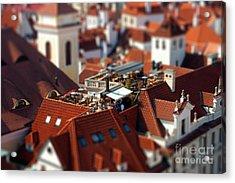 Tiny Roof Restaurant Acrylic Print by Joerg Lingnau