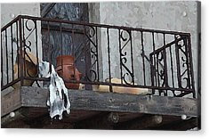 Acrylic Print featuring the digital art Tiny Southwest Balcony by Shelli Fitzpatrick