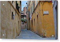 Tiny Street In Siena Acrylic Print
