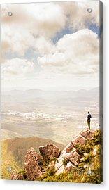 Tip Of Mt Zeehan Tasmania  Acrylic Print