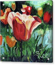 Acrylic Print featuring the painting Tip Toe Thru The Tulips by Billie Colson