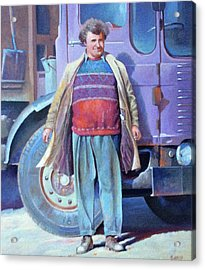 Acrylic Print featuring the painting Tipperman 1970. by Mike Jeffries