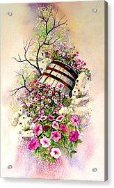 Tipsy Whiskey Barrel Acrylic Print by Brooke Lyman