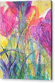 Tiptoe Through The Crocus Acrylic Print