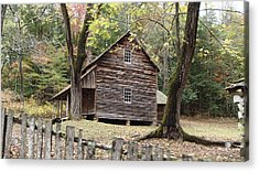 Tipton Place In Cades Cove Tennessee Acrylic Print by Becky Erickson