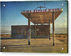 Tire Repair Acrylic Print by Laurie Search