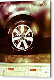Tire Under The Moonlight Color Acrylic Print