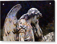 Tired Angel Acrylic Print