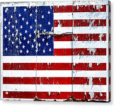 Tired Ole Flag Acrylic Print
