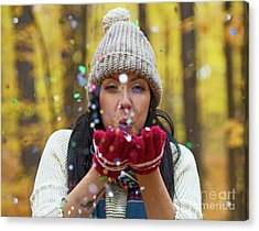 Acrylic Print featuring the photograph Tis The Season.. by Nina Stavlund