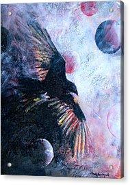 'tis The Wind Acrylic Print by Sandy Applegate