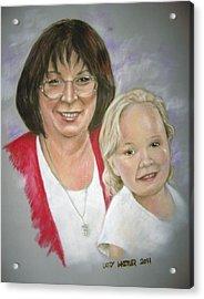 Tish And Naomi Acrylic Print