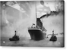 Titanic Acrylic Print by Chris Cardwell