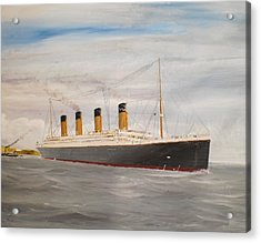 Titanic Departing Queenstown Acrylic Print by James McGuinness