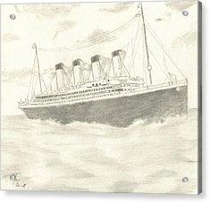 Titanic Acrylic Print by Josh Bennett