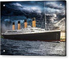 Titanic Photo Restoration Acrylic Print by Brent Shavnore