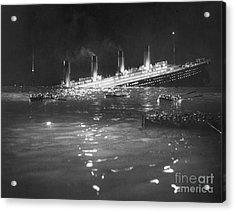 Titanic: Re-creation, 1912 Acrylic Print by Granger