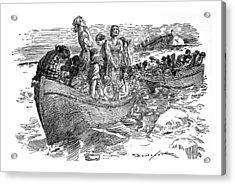 Titanic Sinks - April 1912 Acrylic Print by Daniel Hagerman