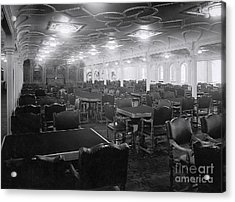 Titanic's First Class Dining Room Acrylic Print by The Titanic Project