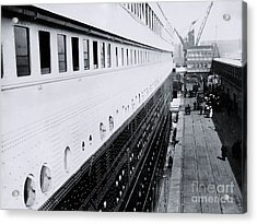 Titanic's First-class Gangway Acrylic Print by The Titanic Project