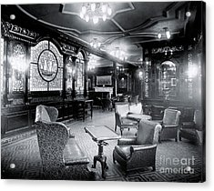 Titanic's First Class Smoking Room Acrylic Print by The Titanic Project