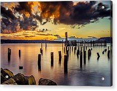 Titlow Beach Sunset Acrylic Print